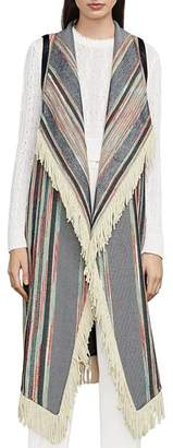 BCBGMAXAZRIA Galiena Fringed Long Vest