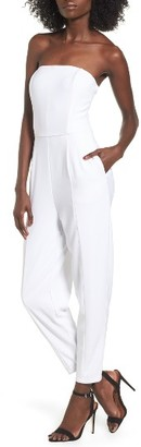 Women's Leith Strapless Jumpsuit $79 thestylecure.com