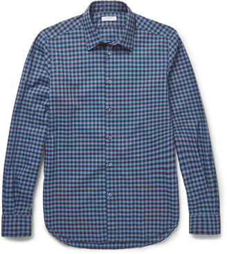 Slim-Fit Checked Cotton Shirt $345 thestylecure.com
