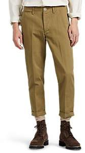 Visvim Men's Cotton Twill Crop Trousers - Beige, Tan