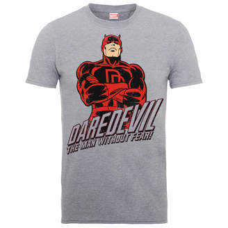 Marvel Comics Daredevil The Man Without Fear Men's Grey T-Shirts