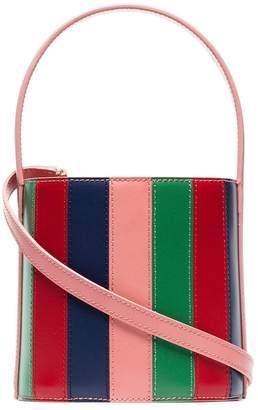 Staud multicoloured bisset leather bucket bag