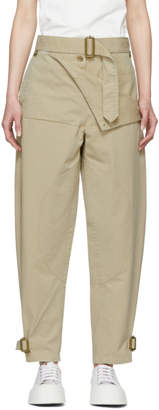 J.W.Anderson Beige Belted Army Trousers
