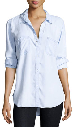 Rails Carter Button-Front Chambray Shirt, Light Vintage Star