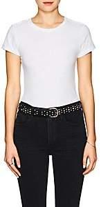 RE/DONE Women's Cotton T-Shirt Bodysuit - White