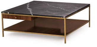 Copeland Square Coffee Table - Black/Brass - Maison 55