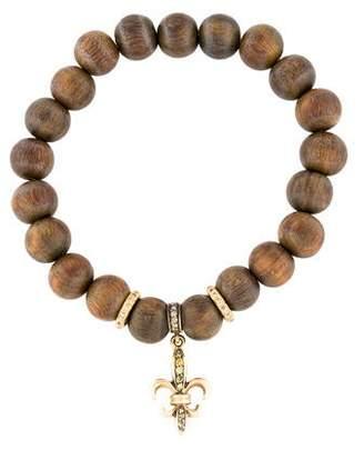 Loree Rodkin 18K Wood & Diamond Bead Bracelet