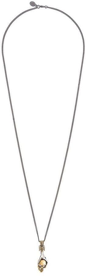 Alexander McQueenAlexander McQueen hand and skul pendant necklace