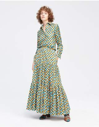 Alpina La Doublej Big Skirt - Flying Colombo In Cotton