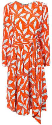 Diane von Furstenberg leaf print dress