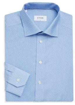Eton Slim-Fit Micro-Print Shirt