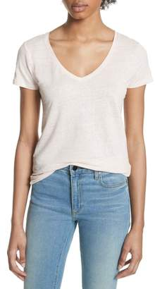 Majestic Filatures Stretch Linen V-Neck Tee