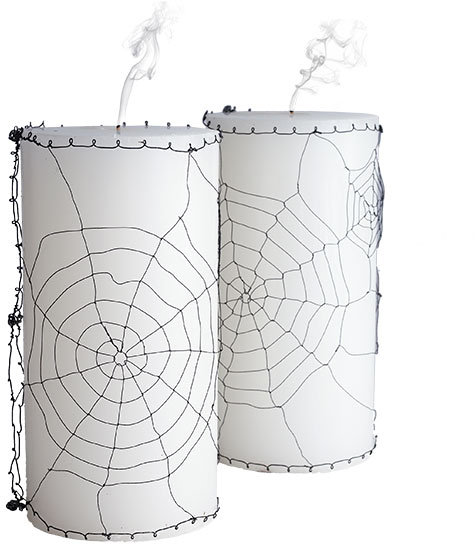Tangled Web Candle Sleeves
