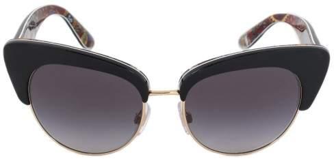 Dolce & Gabbana Cat Eye Sunglasses DG4277 30338G 52 | Black Frame | Gray Gradient Lenses
