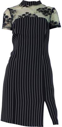 Calore Mesh-Insert Strip Dress