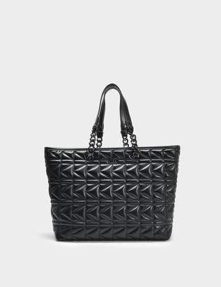 Karl Lagerfeld K/Kuilted Shopper Bag in Black Calf Leather
