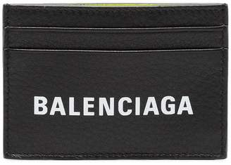Balenciaga Black Everyday Logo Leather Wallet