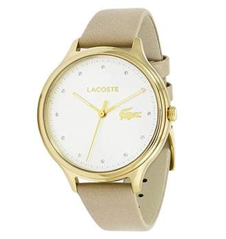 Lacoste Women's 'Constance' Quartz Gold-Tone and Leather Casual Watch