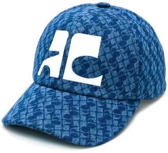 Courreges printed logo cap