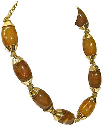 One Kings Lane Vintage 1980s Givenchy Stone Necklace - Wisteria Antiques Etc