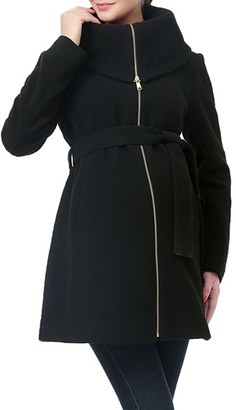Women's Kimi And Kai 'Mia' High Collar Maternity Coat $228 thestylecure.com