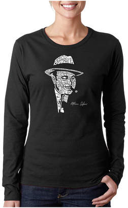 LOS ANGELES POP ART Los Angeles Pop Art Al Capone-Original Gangster Long Sleeve Graphic T-Shirt