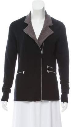 Arabella Rani Cashmere Zip-Up Cardigan