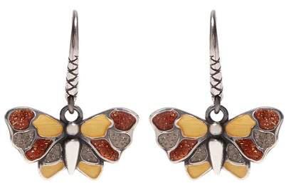 Butterfly sterling-silver earrings