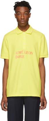 Leon Aime Dore Yellow Graphic Polo