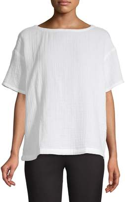 Eileen Fisher Boat Neck Top