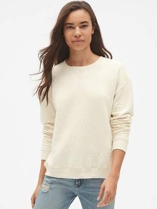 Gap Quilted Pullover Sweatshirt in French Terry