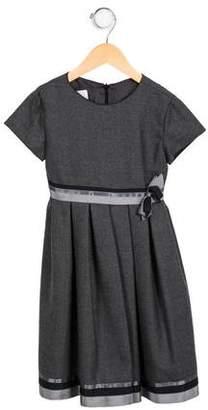 Joan Calabrese Girls' Woven Short Sleeve Dress