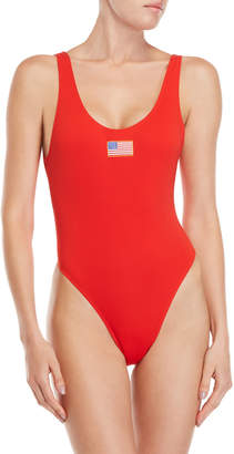 KENDALL + KYLIE American Flag One-Piece Swimsuit