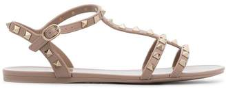 Valentino nude Rockstud studded PVC sandals
