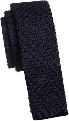 Black Brown 1826 Solid Knit Slim Tie