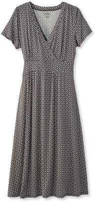 L.L. Bean L.L.Bean Summer Knit Dress, Short-Sleeve Print