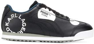 Puma two tone low top trainers