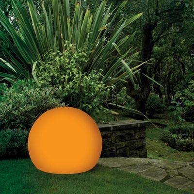 Litecraft Orange CFL 45m Illuminated Decorative Ball Light