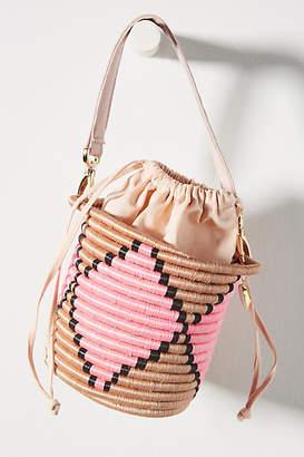 Indego Africa Milo Mini Woven Bucket Bag