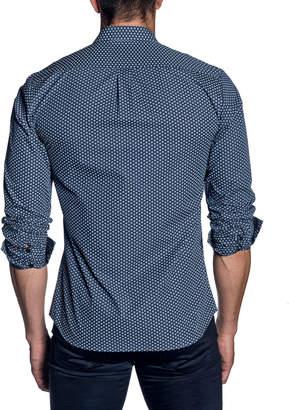 Jared Lang Men's Modern-Fit Mini-Floral Long-Sleeve Shirt