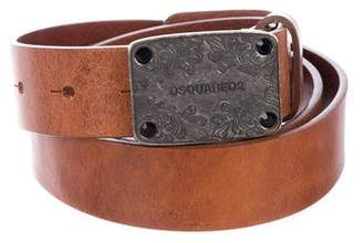 DSQUARED2 Distressed Leather Belt w/ Tags
