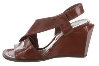 Marc Jacobs Marc Jacobs Leather Wedge Sandals