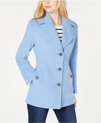 Calvin Klein Wool-Cashmere Single-Breasted Peacoat