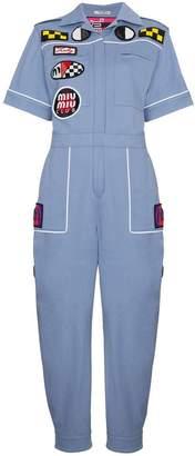 Miu Miu Patch Front Jumpsuit