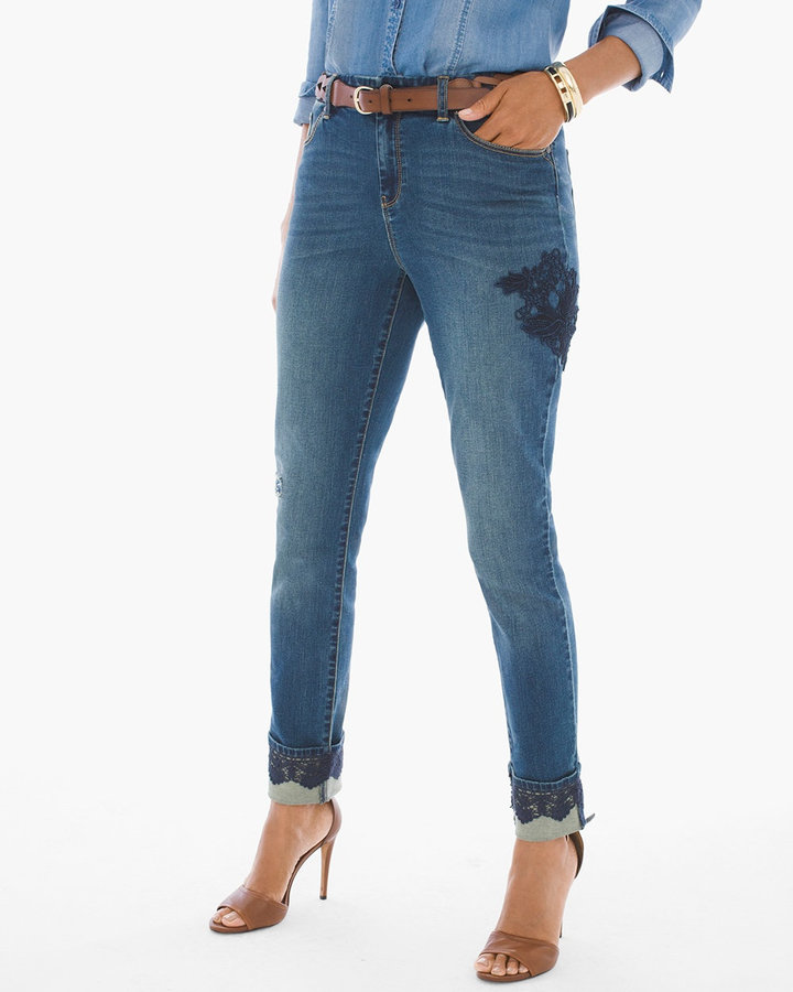 Chico'sLace-Cuff Ankle Jeans