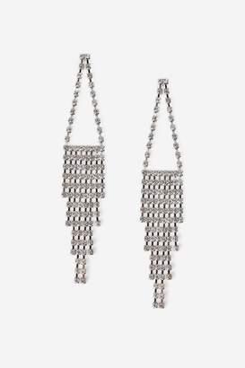 Topshop Mega Rhinestone Drop Earrings