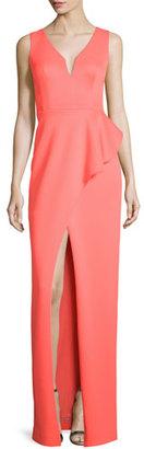 Black Halo Hendricks Sleeveless Peplum Column Gown $575 thestylecure.com