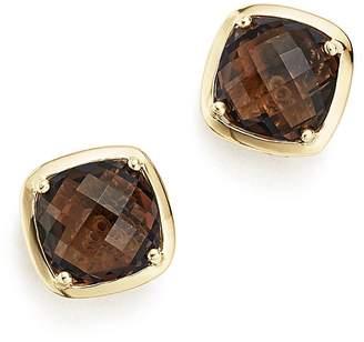 Bloomingdale's Smoky Quartz Stud Earrings in 14K Yellow Gold - 100% Exclusive