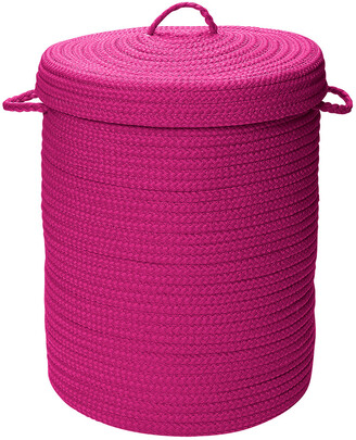 Colonial Mills Simply Home Solid Magenta Hamper With Lid