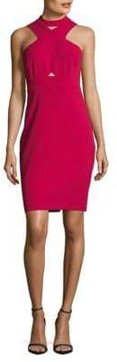 GUESS Crisscross Mockneck Sheath Dress